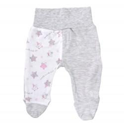 Półśpiochy niemowlęce gwiazdki różowo-szare