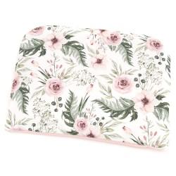"Poduszka niemowlęca płaska ""Wild blossom"" + róż morelowy"