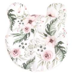"""Poduszka miś dla niemowląt stabilizująca """"Wild blossom"""" + velvet"""