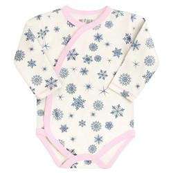 """Nini body kopertowe niemowlęce z bawełny organicznej """"Śnieżynki"""""""