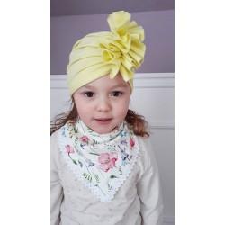 """Czapka turban, apaszka dziewczęca """"Polne kwiaty"""""""