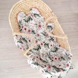 """Komplet bambusowy otulacz z poduszką miś """"Wild blossom"""""""