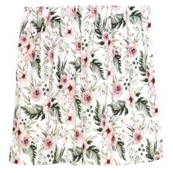 "Otulacz bambusowy 75x100, swaddling blanket ""Wild blossom"""