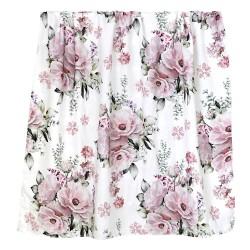 """Otulacz bambusowy, swaddling blanket """"Lovely roses"""""""