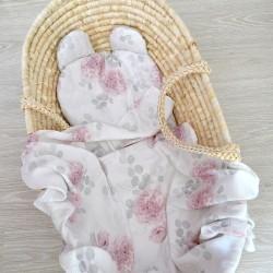 """Komplet bambusowy otulacz z poduszką miś """"Dalie"""""""