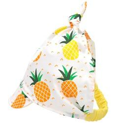 """Chustka na głowę z daszkiem na lato """"Ananasy"""" - bawełna"""